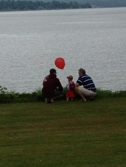 Fee, Daddy and Poppa looking at Lake Chautauqua